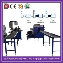 Aluminum spreading machine for making window frame