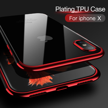 Crystal clear TPU back cover bumper mobile phone case for iphone X mobile phone case cover