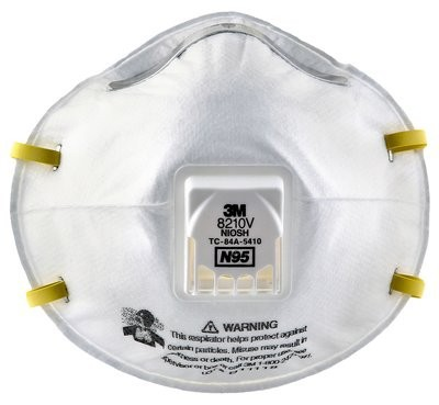 3M 8210V N95 Particulate/Dust Mask, Respirator with valve, NIOSH approved