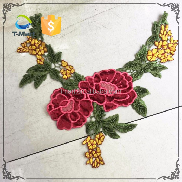 Collar pattern design flower collar neck designs embroidery designs collar for ladies dress
