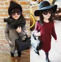 FASHION KIDS DRESSES,SPRING OR AUTUMN CHILDREN DRESS FOR KID GIRLS,CHILDREN SWEATER DRESSES