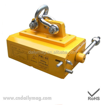 1 Ton Portable manual metal Permanent Magnetic Lifter