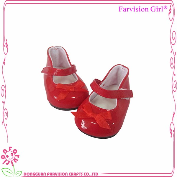 "New style american doll toy shoes wholesale custom 18"" plastic doll shoes"