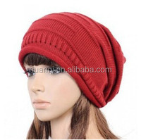 Women Winter Warm Chic Baggy Beanie Knit Crochet Ski Hat Cheap Skull Caps