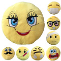 Cheap Wholesale Custom sew plush whatsapp embroidered emoji pillow