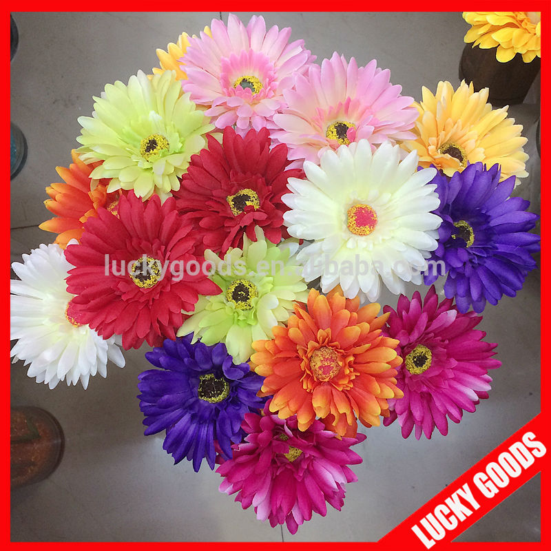 60cm single stem silk daisy craft flower wholesale