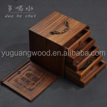 2016 OEM design finished wooden and bamboo boxes for gift