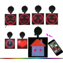LED emoji car taxi Bluetooth mobile phone LED moving message or animation picture full color LED emoji smiley face car sign