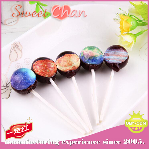 Crafted Galaxy Planet Lollipop Handmade Filling 3D Planet Lollipop