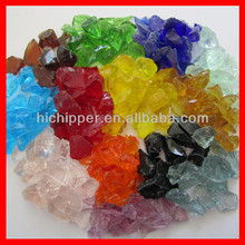 China recycled decorative crushed colored glass aggregate landscaping