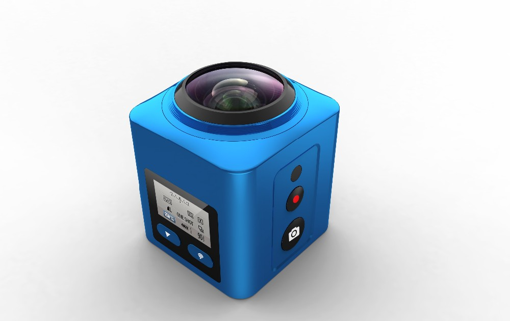 VR 360 degree 4k colorful wifi action camera waterproof full hd video camera