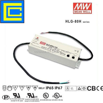 Genuine Mean Well HLG-80H-15A 15v 80w led driver
