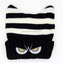 fashion funny children cute knitted beanie winter hat