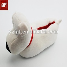 Baby girl white soft leather baby wool shoes