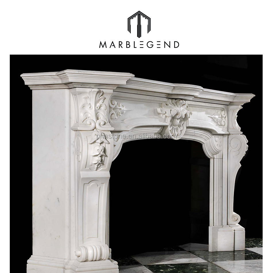 Chinese hot sale stone marble fireplace supplier italian marble fireplaces mantel