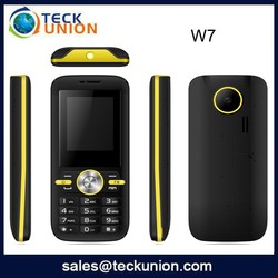 W7 1.8inch dual sim quad band mobile phone low price chip bar cell phone
