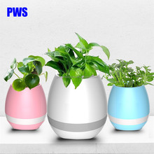 Smart Bluetooth speaker music flower pots K3 with LED light for home and office use