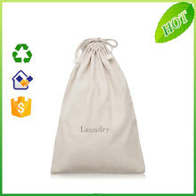 custom Organic Cotton Drawstring Shoes Bag Print Logo Promotional Cotton Canvas Shopping Bag Tote Pull String Bag