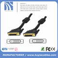 Gold Plated DVI Cable 24+1 Male to Male with two ferrites