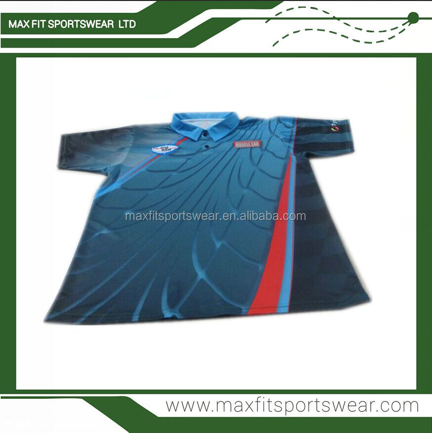 Mens auto racing wear printed personality custom made motocross jersey