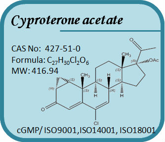 CAS No: 427-51-0 Steroid-Cyproterone acetate (Ppharmaceutical raw material)