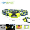 For Camping, Running, Hiking, Reading, 100% White-50% White-Red Light-Red Strobe Headlamp
