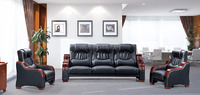 Oupusen home 1 1 3 black wooden sofa set