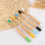 2019 new 100% biodegradable Soft hair baby bamboo toothbrush eco