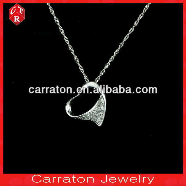 Costume 925 sterling silver jewelry,AAA grade cz silver pendant jewellery