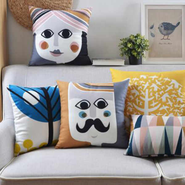 18 inches cute patteren cushion cover digital printing for decoration