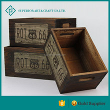 new design decorative wooden planters painted planters wood box wholsale for garden