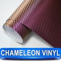 7.8mil Light Purple Carbon Chameleon Vinyl Motorcycle Wraps
