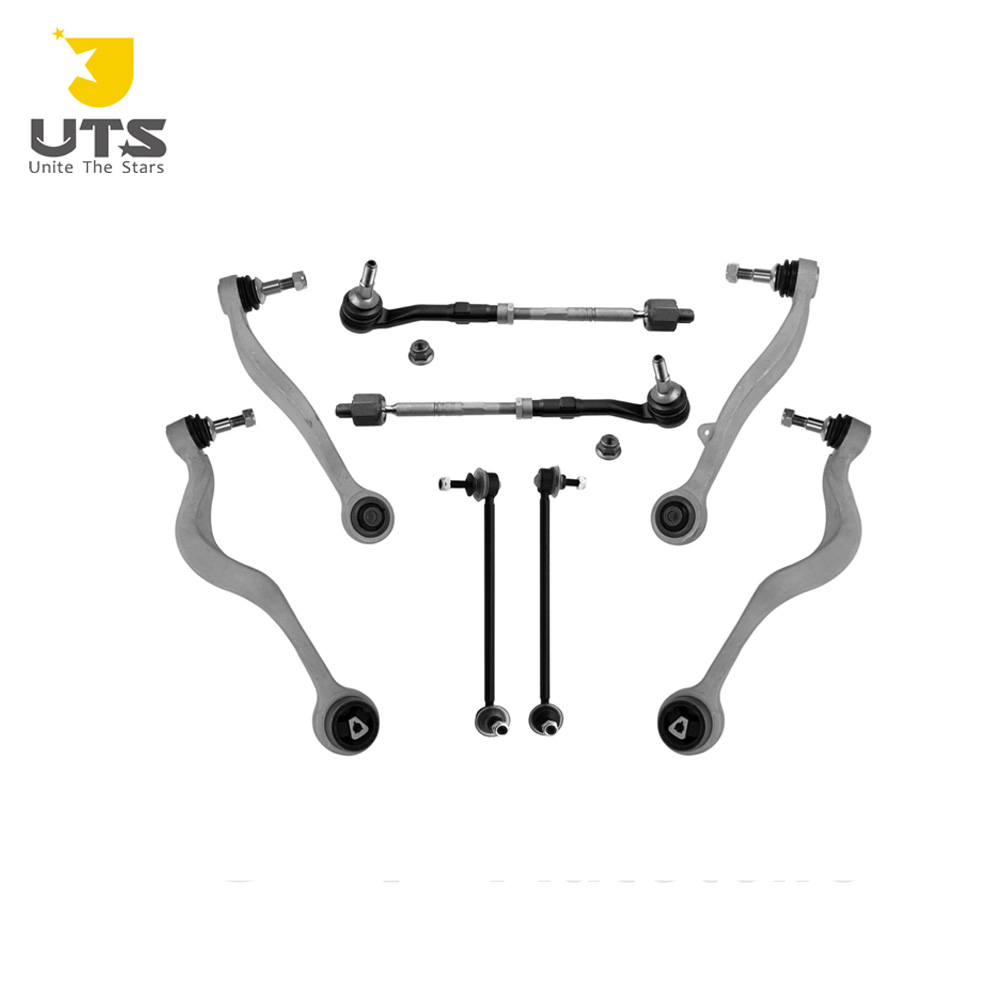 High Quality front control arms ball joints tie rods sway bar link kit for BM W E60 8 Pcs