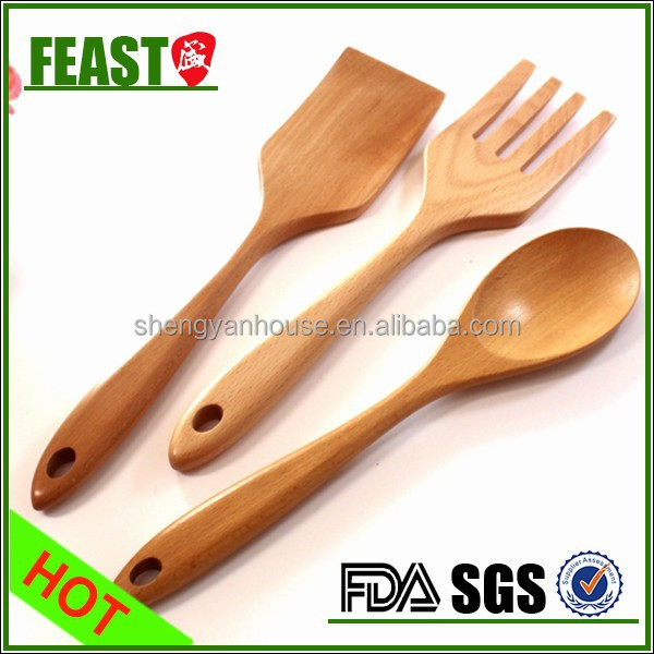 New style fashion mini wooden fork and spoon for kitchen