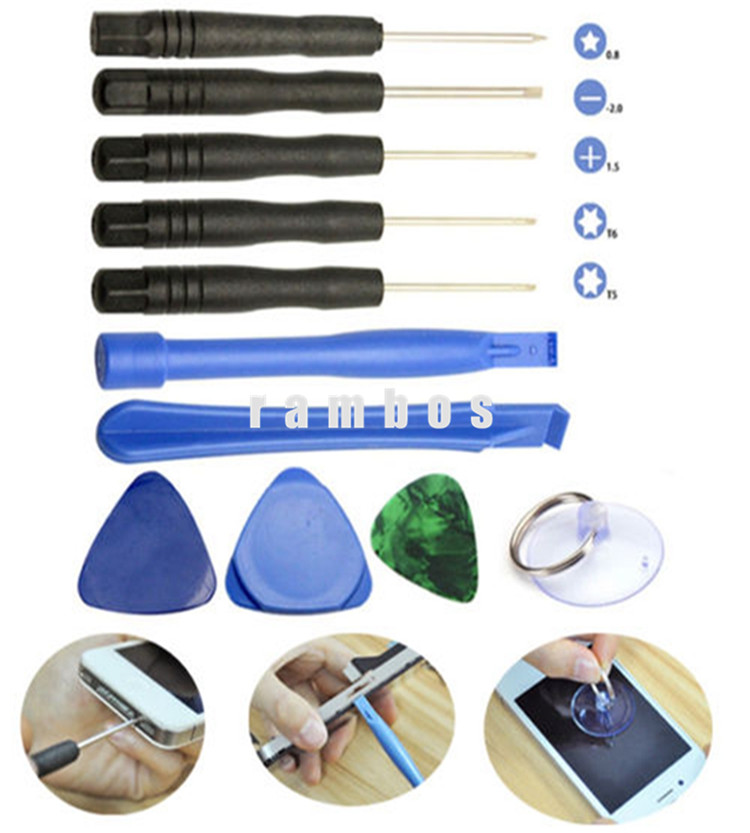 Universal 11 in 1 Opening Pry Tools Disassemble Phone Repair Kit Versatile Screwdriver Set for iPhone for Samsung for Sony