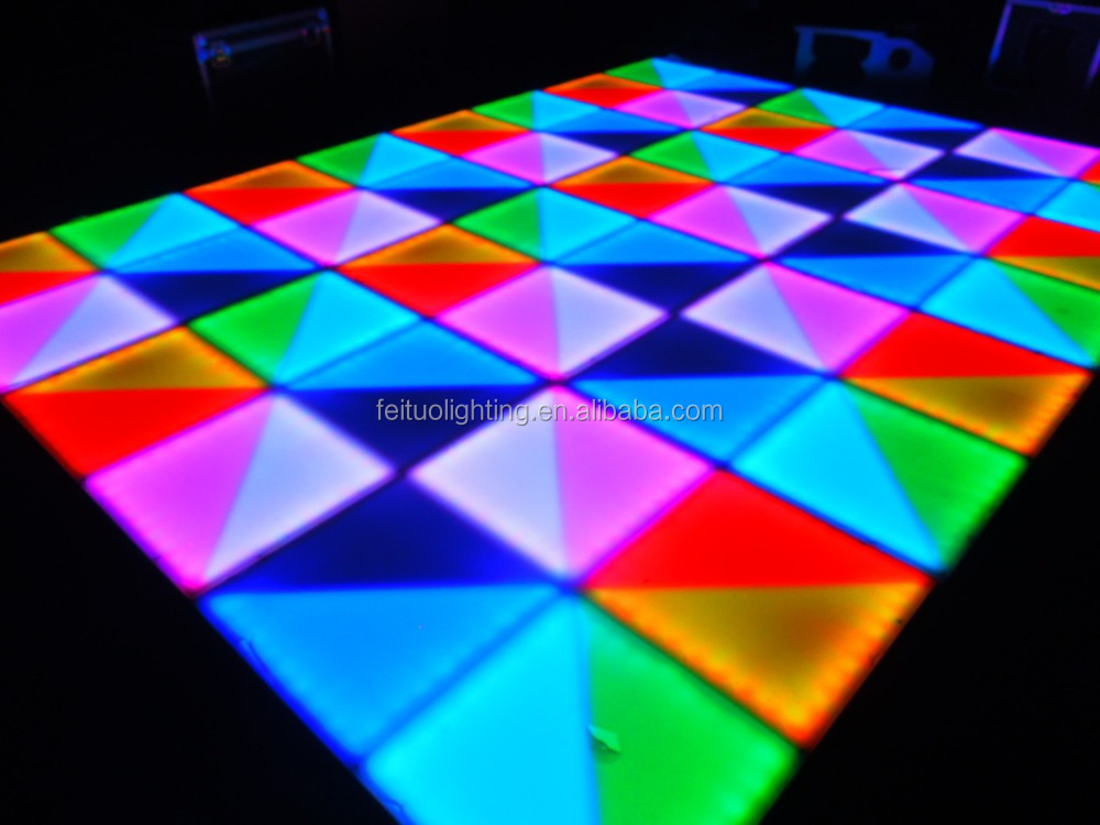 Btightness light up weight rgb led illuminated dance floor