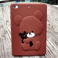 Soft Rubber silicone Cartoon Animal Design Tablet Phone Case For iPad Bear Shockproof Cover Case