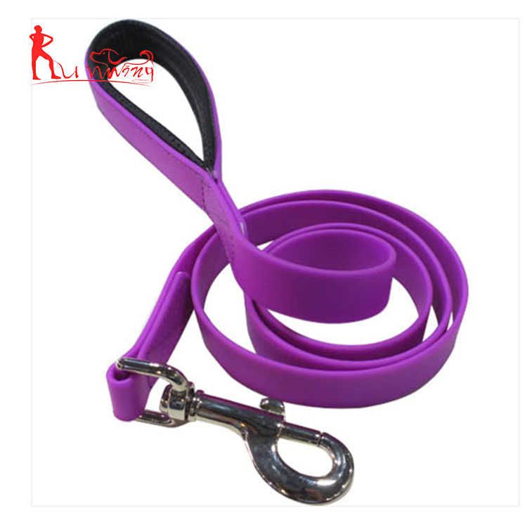 New pet dog products premium durable purple puppy leash with PVC coated polyester webbing