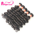Natural wavy hair extensions brazilain weave color 1b or #2 beauty for black women high quality machine weft