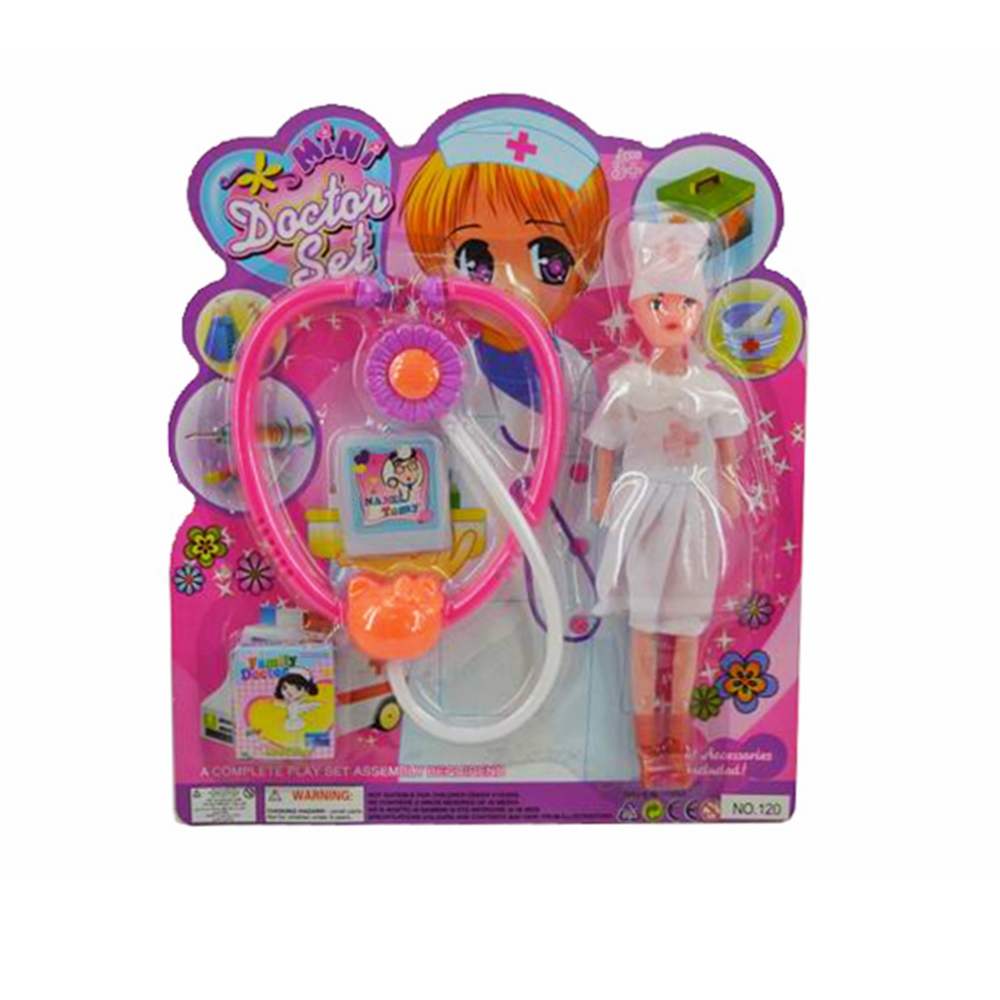 Cheap and Hot sale Plastic Nurse Doll And Stethoscope Doctor Set