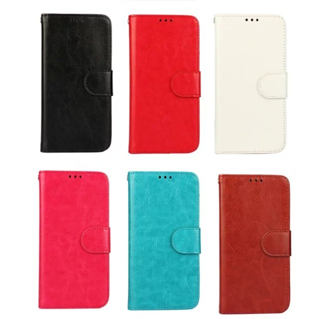 Hot Selling Crazy Horse PU Leather Flip Wallet Phone Case For Samsung Galaxy S5 i9600 , For Samsung S5 Cover