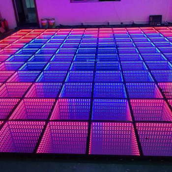 2019 new products led 3D optical illusions led mirror dance floor/dance floor led white black