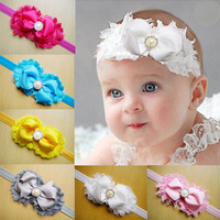 fancy babys headband,cute new born stretch headband, infant head flower