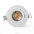 Norge 83mm Cutout GYRO dim to warm led downlight 9w IP44