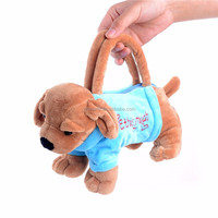 Plush Cartoon Dogs for Kids Coin Holder Plush 3D Poodle Toys Schnauzer Toys for Children Girls Best New Year Gifts 20*13 cm
