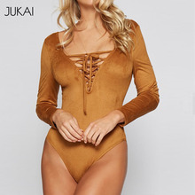 Long Sleeve Suede Bodysuit Teddy Lingerie Bodysuit Women Cotton Workout Bodysuit