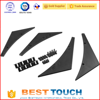 Racing Universal Fit Front Bumper Lip Splitter Fins Body Spoiler Canards Valence Chin Carbon