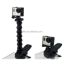 Adjustable gopro jaws flex mount with flex neck for hero accessories,GP154,gopro jaws