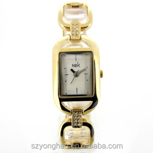 2015 wholesale brass women watch with Japan movement