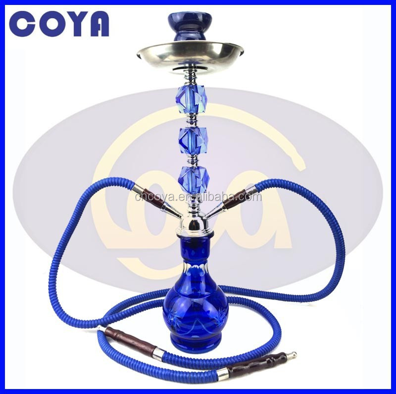 High quality medium shisha glass hookah 2 hoses CM-081